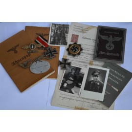 Germany. The DKiG & Awards with Documents to Leutnant (Pilot Oficcer) Berner Otto.