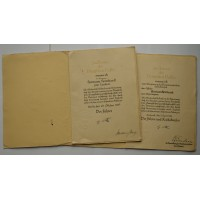 A Large Government Official Promotion Documents To Herman Heimhardt, one signed by the Hermann Göring.