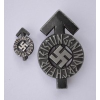 An HJ Proficiency Badge, Black Grade with mini.