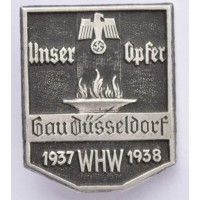 A 1937/38 WHW (Winter Relief Of The German People) Gau Düsseldorf Donation Badge
