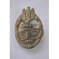 Silver Grade Tank Badge by Wilhelm Hobacher, Vienna