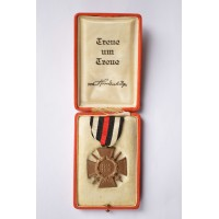 Germany, Imperial. An Honour Cross of the World War with Swords (1914-18), by Christian Lauer Nürnberg-Berlin with Case