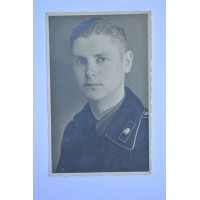 Germany, Heer. A Studio Portrait Of A Panzer soldier With Dedication, 21.10.1944