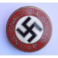 NSDAP Party Badge marked RZM M1/105 maker Herman Aurich, Dresden.