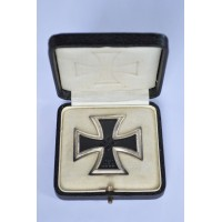 An Iron Cross First Class 1939 in case, unmarked, signed owner, maker Steinhauer & Lück.