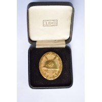 Wound Badge Gold unmarked 30 with case LDO by Hauptmnzamt Wien