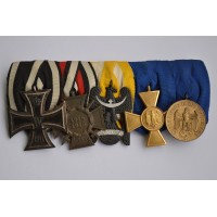 Medals Bar WWI/WWII. A Good Army Group of Five.