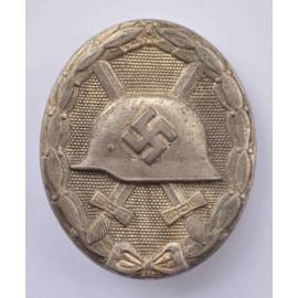 Wound Badge Silver marked 107 marker Carl Wild, Hamburg.