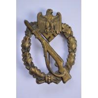 IAB Infantry Assault Badge bronze, zinc, maker Rudolf Karneth