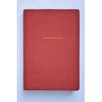 """PERIOD BOOK: """"MEIN KAMPF"""" BY ADOLF HITLER, 1940 POCKET RED EDITION"""