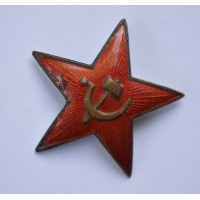 Soviet Army Military, Hat Red Star Pin Badge CCCP