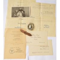 A Group Of Awards With Documents To Bootsmannsmaat - Karl - Heinz Weben