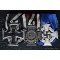 A First War German State of Baden Medal Bar.