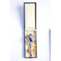 MOTHER'S CROSS GOLD in box maker B.H. Mayer Pforzheim