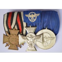 Police Medals Bar WWII.