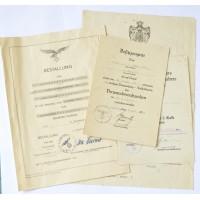 Set Paper Awards after Unteroffizier Hans Wollatz 7. Stuka 77