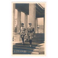 """III. Reich - Propaganda-Postkarte - Adolf Hitler - Benito Mussolini - """"Die Garanten Des Friedens"""""""