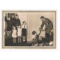 "III. Reich - Propaganda Postcard - ""Adolf Hitler and the Jugend""."