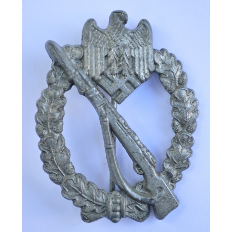 "Infanterie Sturmabzeichen (ISA) / Infantry Assault Badge (IAB) by Assmann, Marked ""4"""