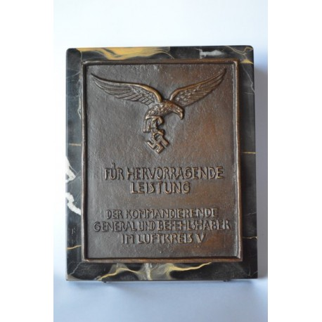 Luftwaffe honorary plaque of the air circuit V.
