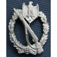 "Infantry Badge Silver maker Deumer called ""Endsieg"" variant."