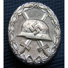 WOUND BADGE SILVER GRADE UNMARKED By Wiedmann/Deschler
