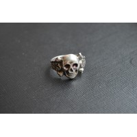 Wehrmacht Canteen Silver Skull Ring