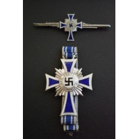 Set Mother cross silver with claps cross mother.