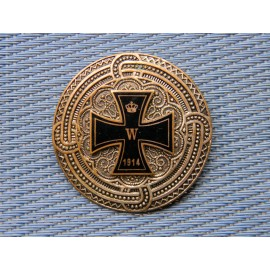 First War German Brooch witch Iron Cross 1914