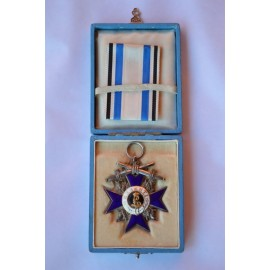 A Bavarian Order of Military Merit with Swords, Fourth Class  with case