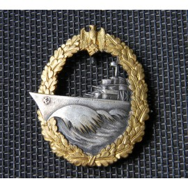 A Kriegsmarine Naval Destroyer War Badge by Schwerin.