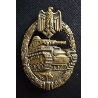 "A TANK-BADGE - BRONZE GRADE -  MARKED ""W"" BY KARL WURSTER"