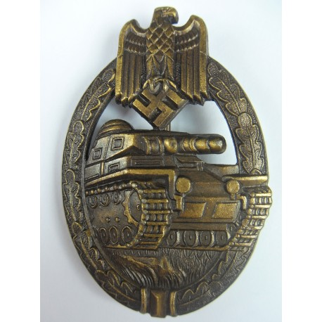 TANK BADGE BRONZE OVAL CRIMP