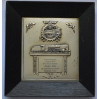 REICHSBAHN (RAILROAD) 25 YEAR LONG SERVICE PLAQUE.